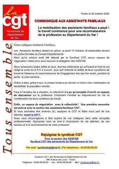 Communique greve 15 octobre