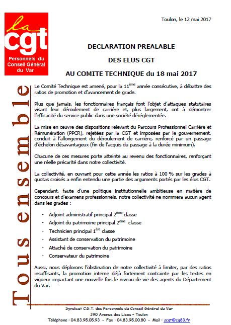 Declaration prealable ct 18 mai