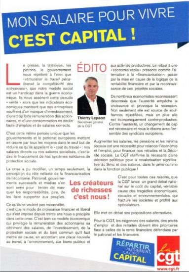 Le coup du capital 4 pages ICI