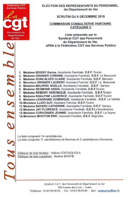 Liste candidats en ccp