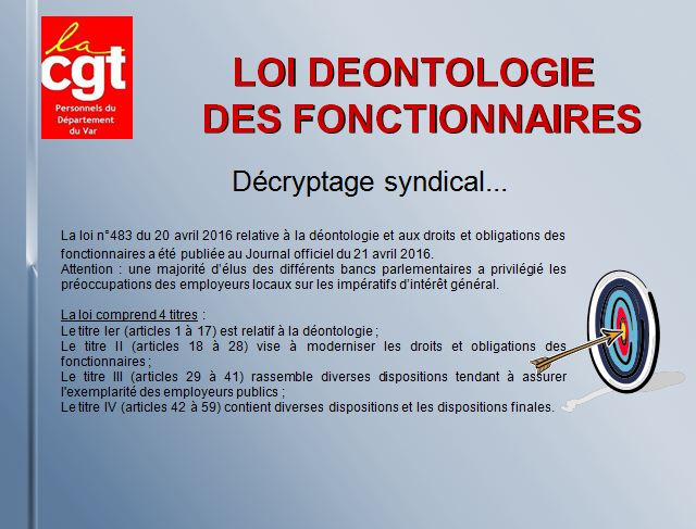 Loi deontologie