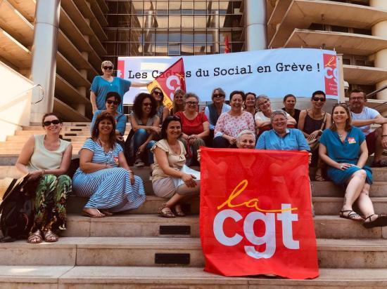 Photo mouvement de greve du social