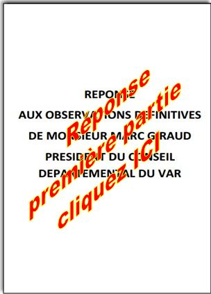 Reponses aux observations